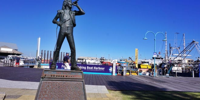 Statue of AC/DC singer Bon Scott